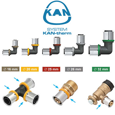 KAN-therm-LBP - press системи и фитинги